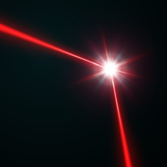 Red laser beam,  illustration