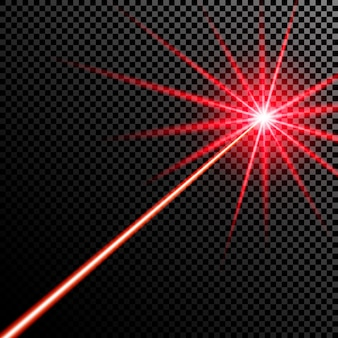 Red laser beam.