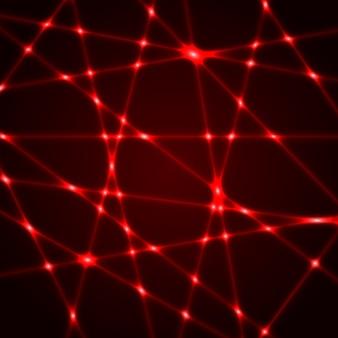 赤いレーザー光線。図。