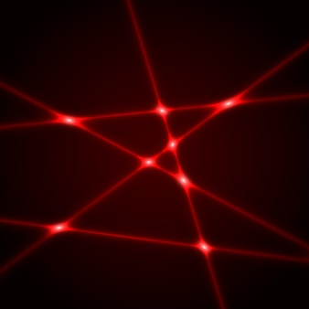 Red laser beams. light effect.