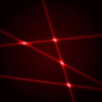 赤いレーザー光線。