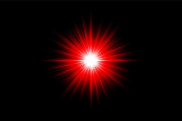 Коллекция вспышек красных линз премиум прозрачный eps