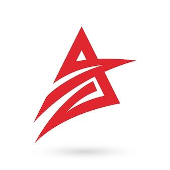 赤い文字、モダンなロゴのアイコン