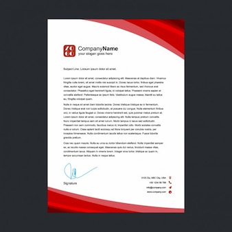 Red letterhead design