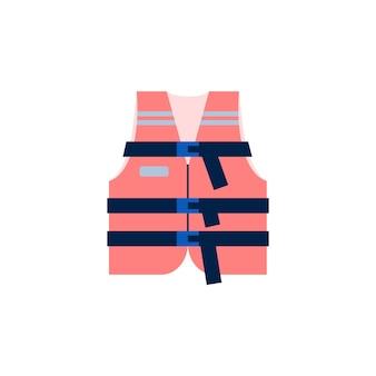 水中の救助と安全の人々のための赤い救命胴衣のベストベクトル図