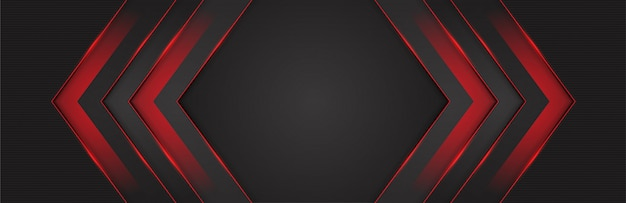 Red light 3d arrow direction dark grey background