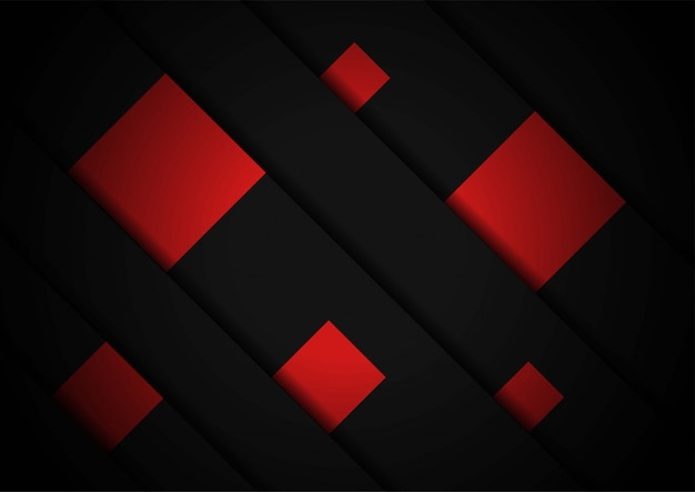 Red light arrow black with wavy mesh background cover layout template Premium Vector