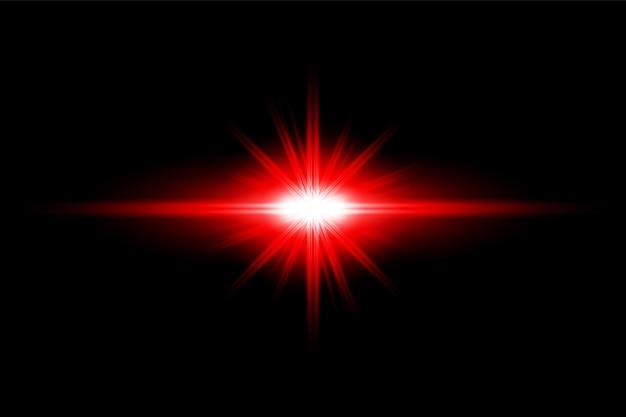 Красный световой эффект прозрачный вектор пользовательские блики объектива