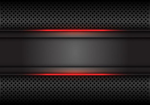 Red light line dark grey background