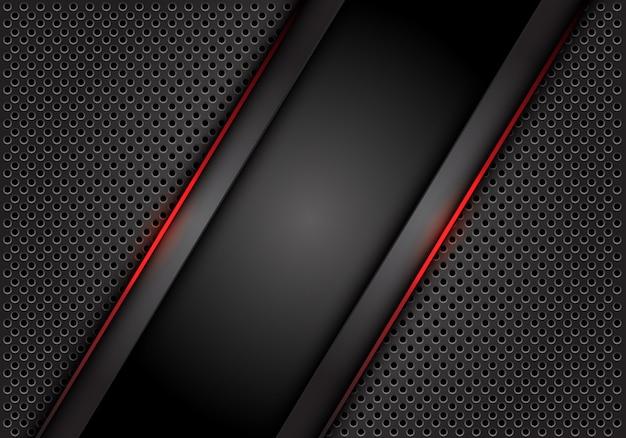 Красная светлая линия темно-серый фон