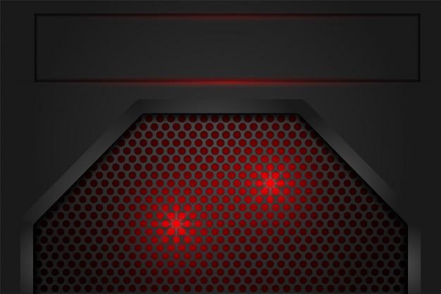 Red light in mesh shadow dark grey as background