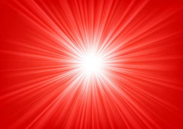 Red light shining on bright background vector illustration