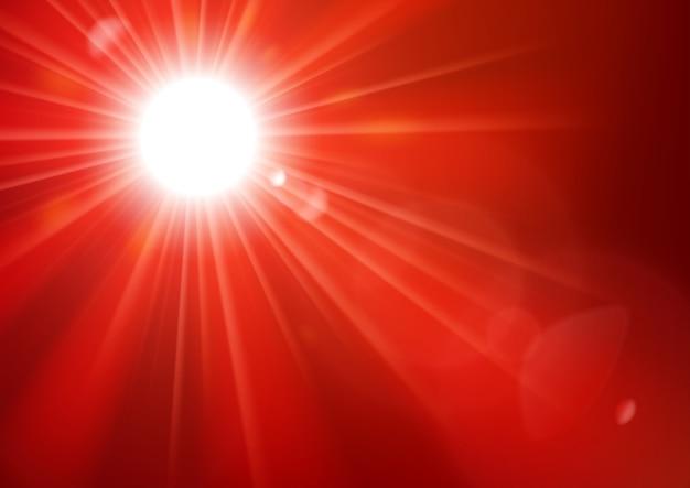 렌즈 플레어 배경으로 빛나는 붉은 빛