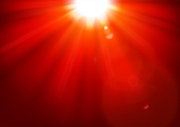클리핑 마스크에서 렌즈 플레어로 빛나는 붉은 빛