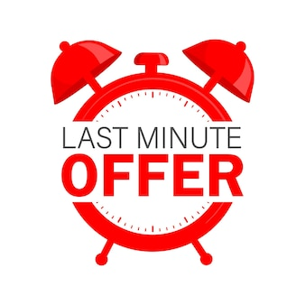 Red limited offer for any purpose. last chance sale banner