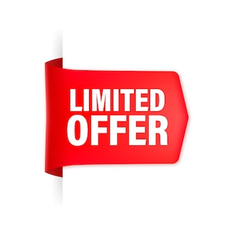 Red limited offer ribbon