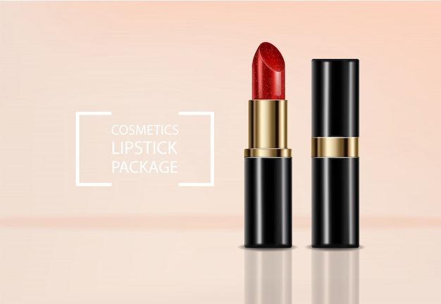 Red lipstick makeup product