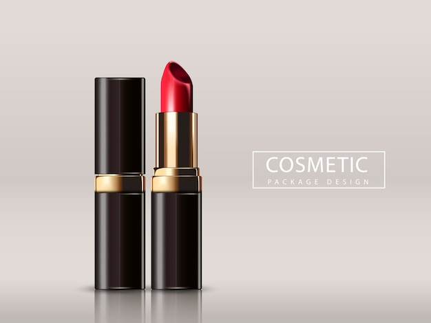 Red lipstick mockup illustration