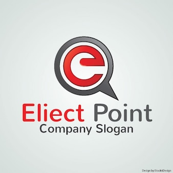 Red logo for a company