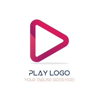 Red logo, play