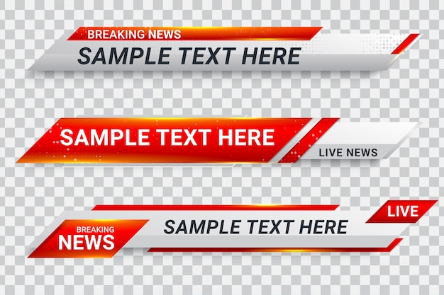 Red lower third banner bar screen broadcast