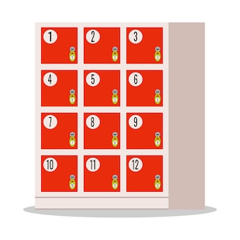 Красная камера хранения, амера временное хранение вещей в супермаркете.