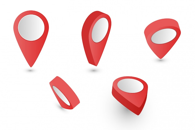 Red map pointer collection