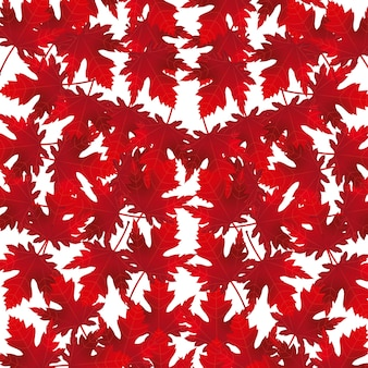 Red maple leaves decoration background