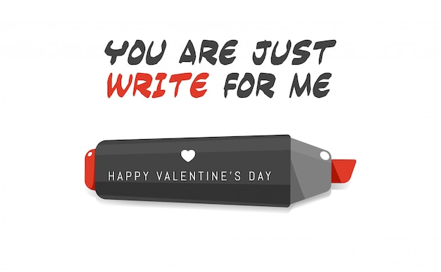 The red marker. valentine's pun