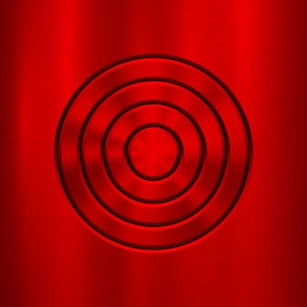 Red metal abstract technology background