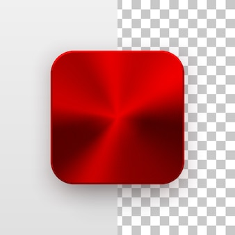 Red metal blank app icon