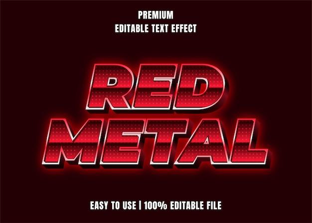 Редактируемый текстовый эффект - red metal style