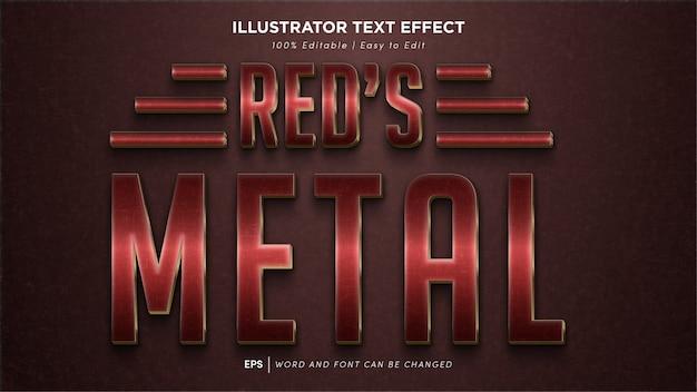 Красный металлический текстовый эффект