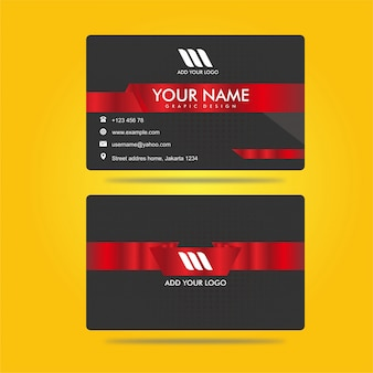 Red metalic bussines card amazing design