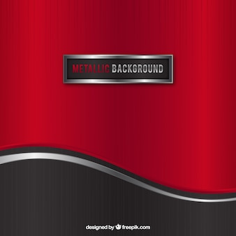 Red metallic background