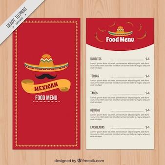 레드 멕시코 음식 메뉴