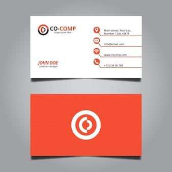 Красный минимальное визитная карточка