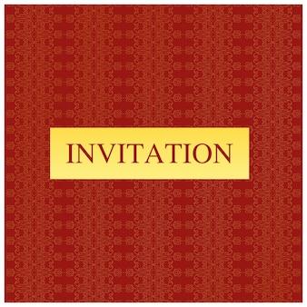 Red minimal wedding invitation template
