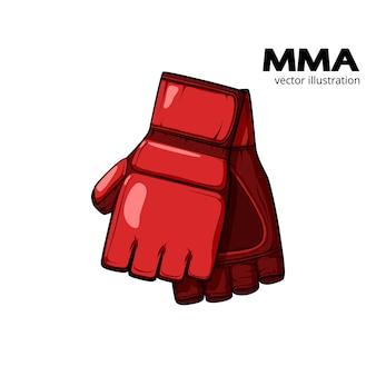 Red mma gloves