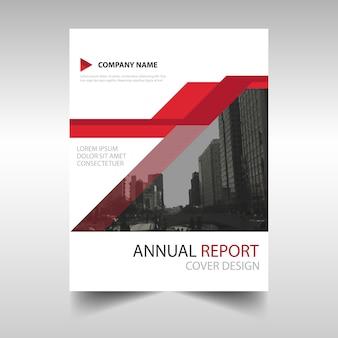 빨간 현대 연례 보고서 서식 파일