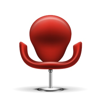 Red modern chair isolated