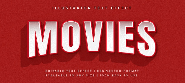 Red modern movie  text  font effect