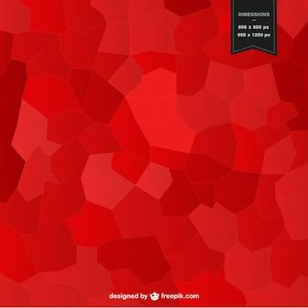 赤のモザイク背景デザイン