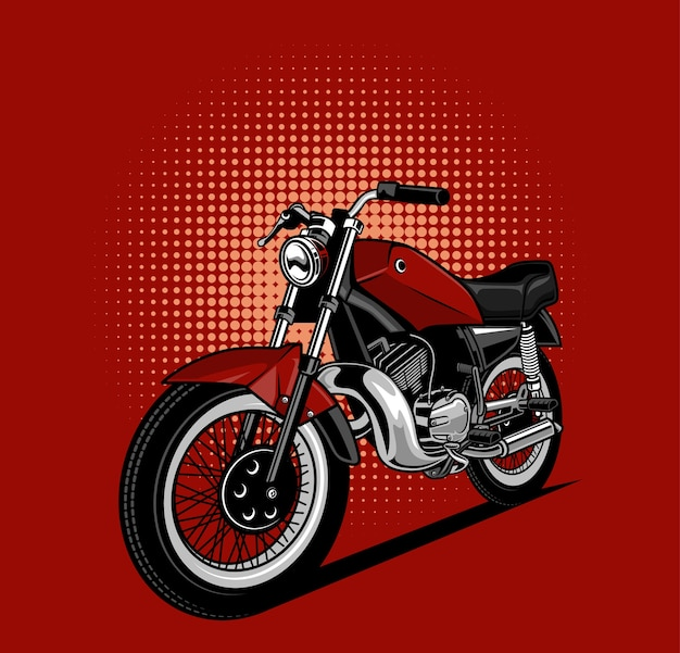 Red motorcycles