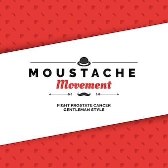 Red movember design