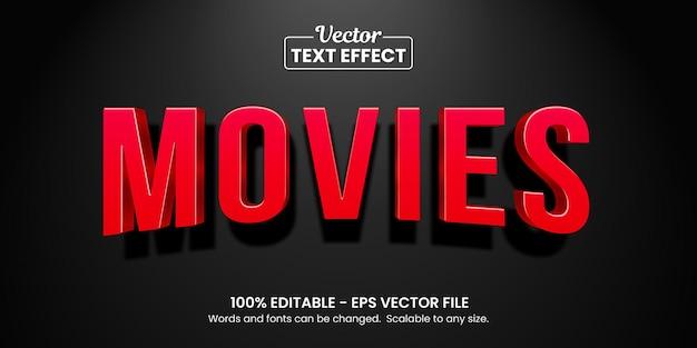 赤い映画のテキスト効果、編集可能なテキスト効果
