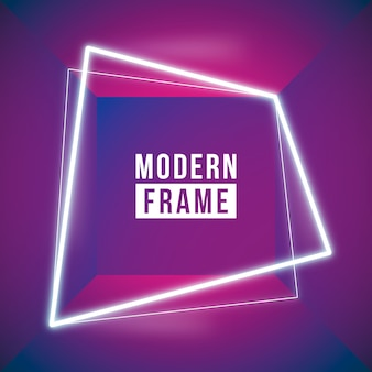 Red neon frame background
