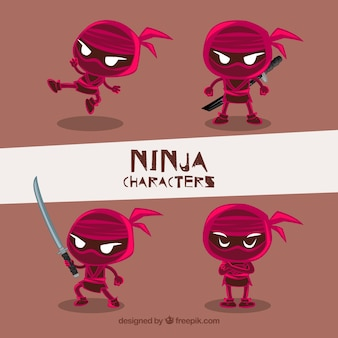 Red ninja character collection