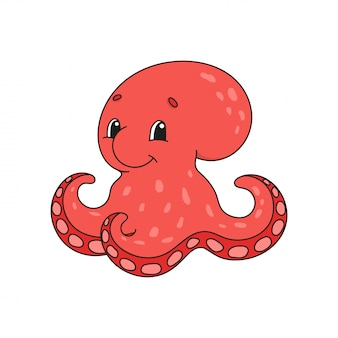 Red octopus.
