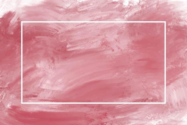 Красная картина маслом на фоне холста